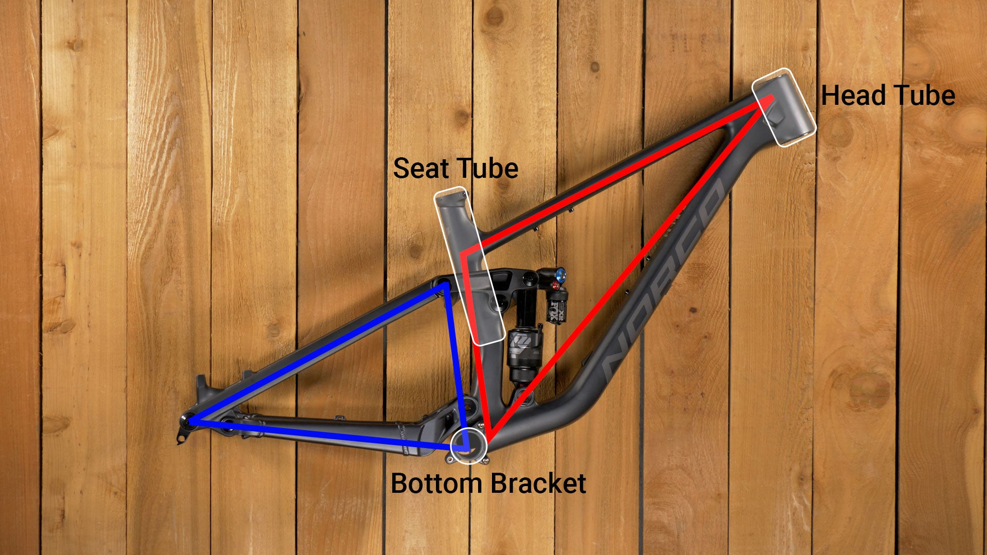 Mountain Bike Front and Rear Triangles