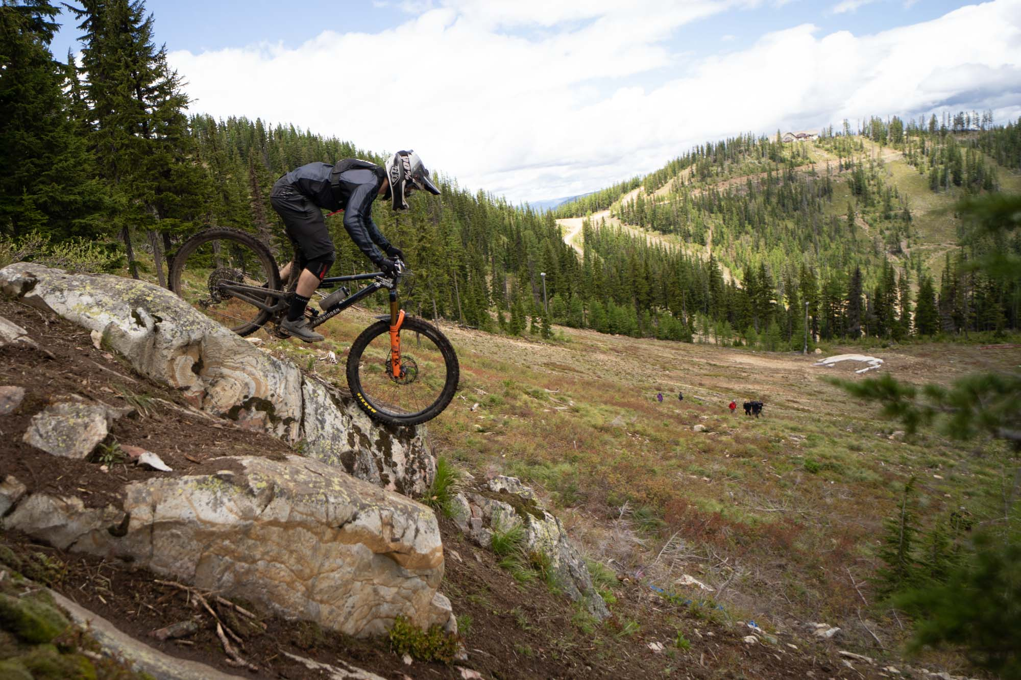 Andrew at the 2021 NAEC race at Silver Mountain in Idaho.