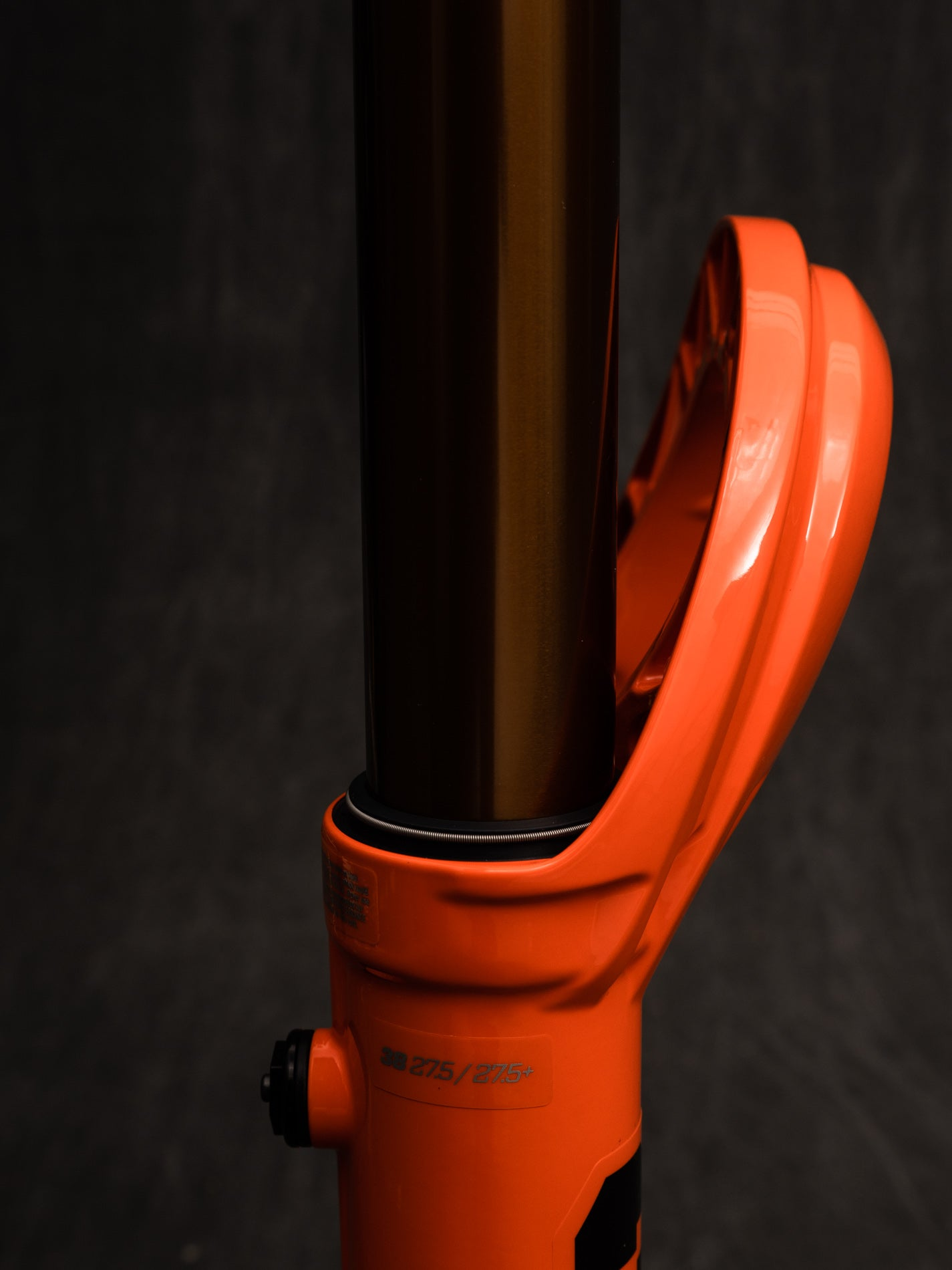 The new lower leg arch on the Fox 36 and 38 makes for a stiffer system and more space for burlier frame head-tubes.