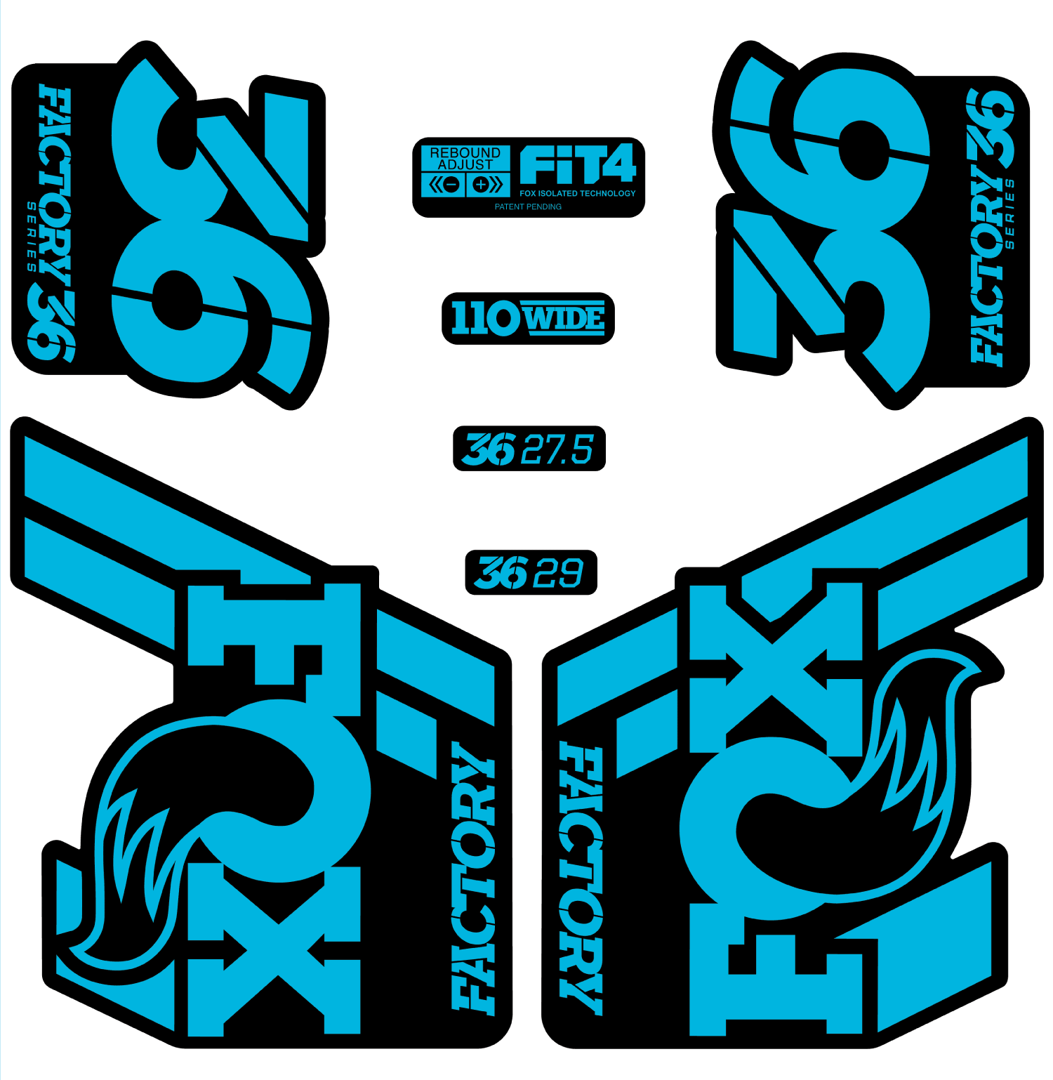 36 float decal set matte finish