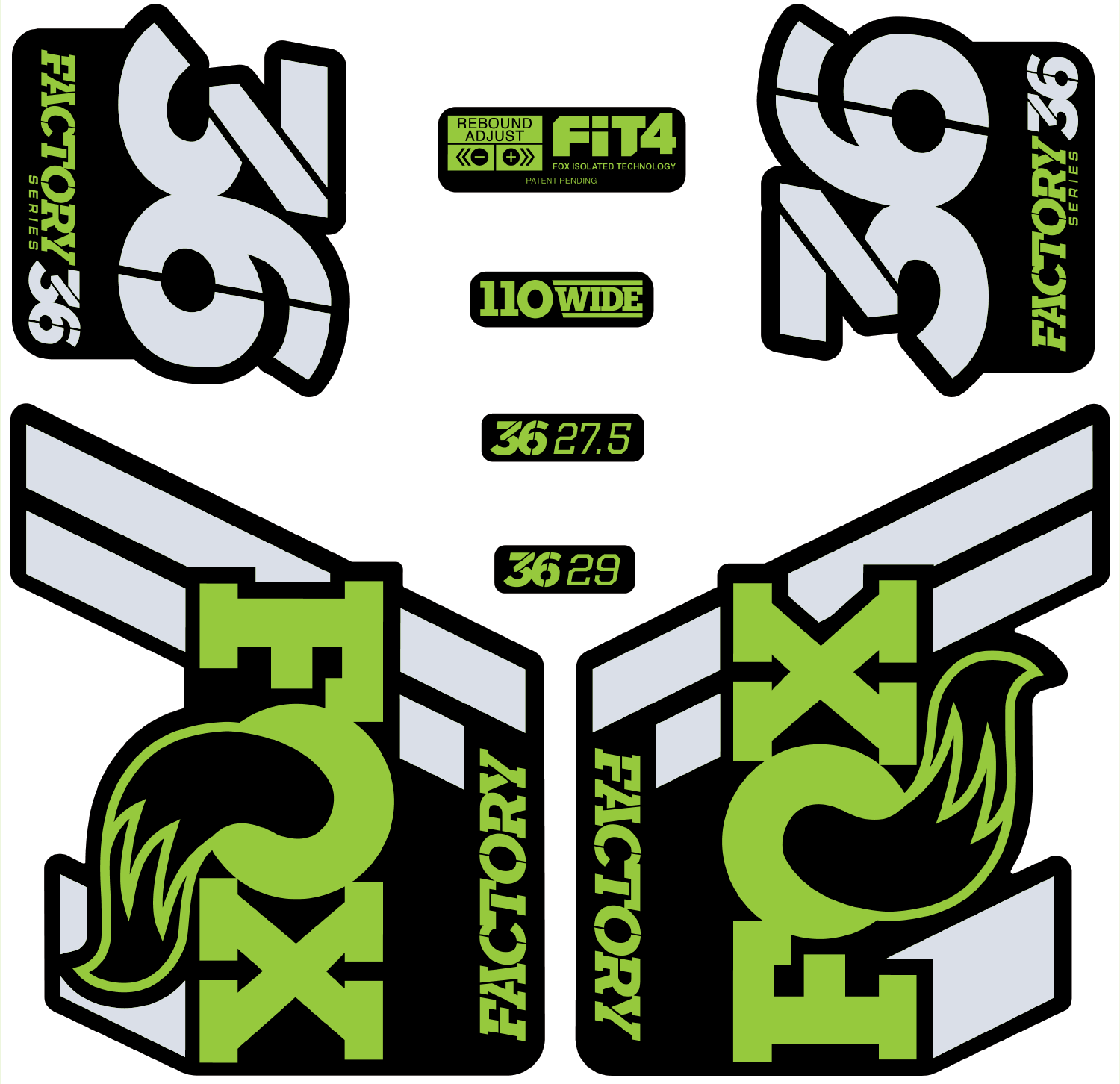 Fox Racing Shox 36 Float Decal Set / Matte Finish