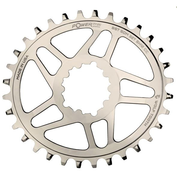 Wolf Tooth Powertrac Elliptical Direct Mount SRAM GXP Oval Boost Chainring 30t