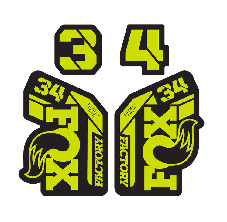 34 Factory Decal Set / Matte Finish 2021