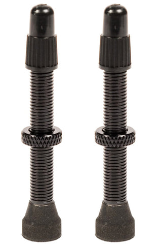 Black Tubeless Valve Stems 44mm
