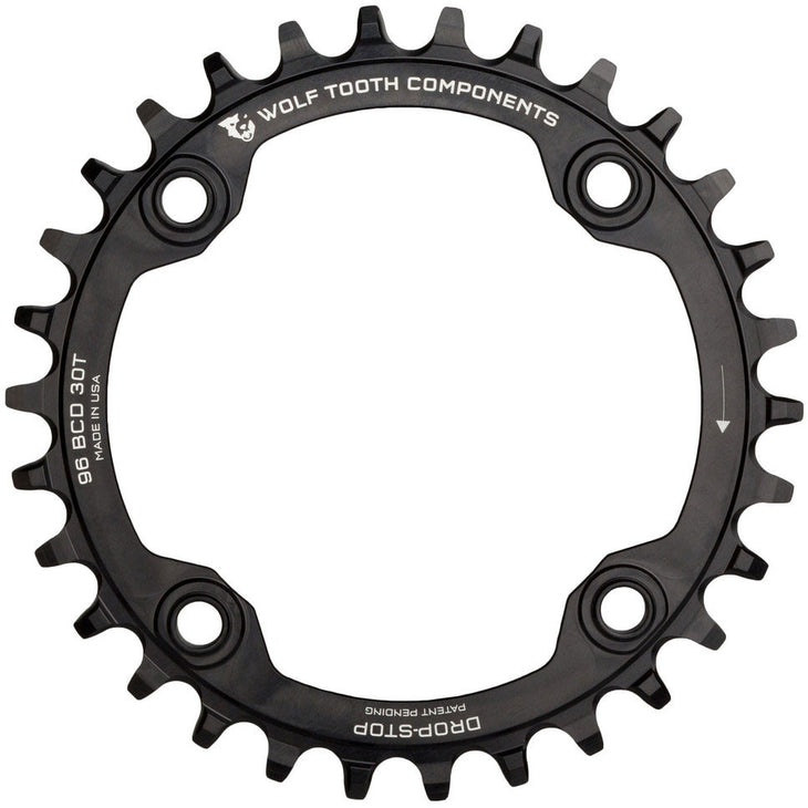 Drop-Stop Chainring for Shimano Symmetrical 96mm BCD Cranksets