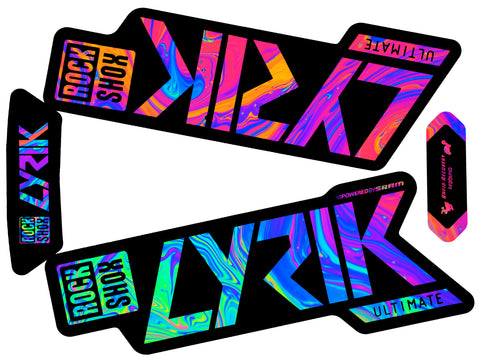 Lyrik Ultimate Decal Kit - Black Lowers - Gloss Finish