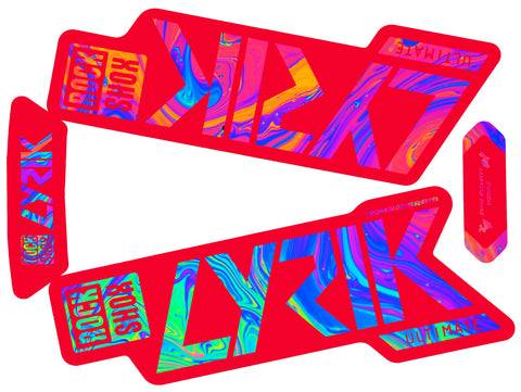 Lyrik Ultimate Decal Kit Red - Red Lowers - Gloss Finish