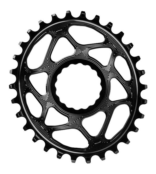 Absolute Black Spiderless Cinch DM Oval Boost Chainring Gold 32T