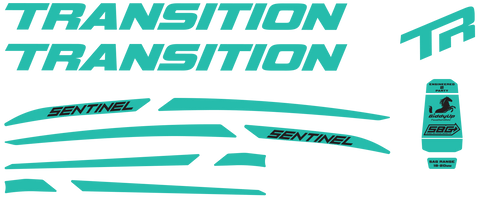 Sentinel Carbon Decal Set - 2019 / Matte Finish