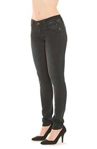 Rubberband Stretch Women's Skinny Jeans (Sarina/Blackberry) Size 28(7/8)