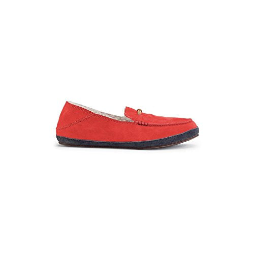 OluKai Women's Pa'ani Slipper Grenadine/Dark Shadow Nubuck 7 Medium