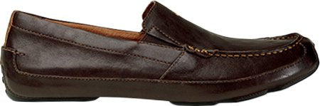 OLUKAI Men's Akepa Moc,Chocolate/Chocolate Leather,US 8 M