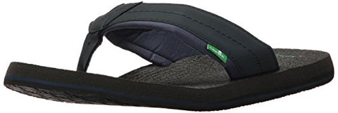 Sanuk Men's Beer Cozy 2 Flip-Flop Navy 10 M US