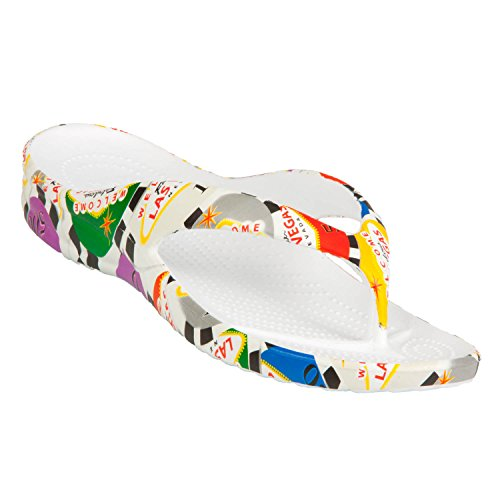 DAWGS Women's Fun Collection Flip Flops - Poker Chips