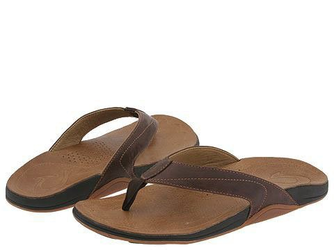 OLUKAI Kumu Sandal - Men's Java/Tan 10