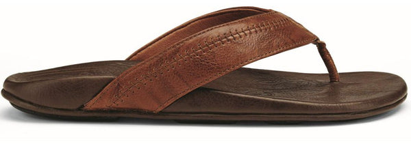 Olukai Hiapo - Mens Supportive Sandal Rum/Dark Java - 10