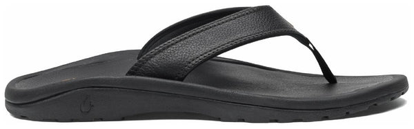 OLUKAI Men's Ohana Sandals, Black/Black, 10 M US