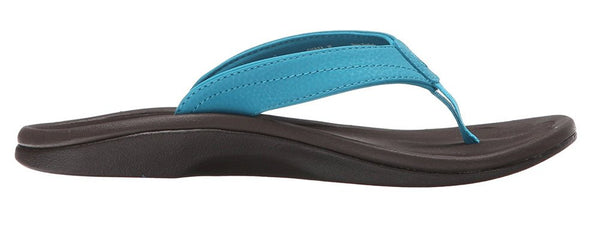 OLUKAI Ohana Sandal - Women's Tropic Blue/Dark Java 6