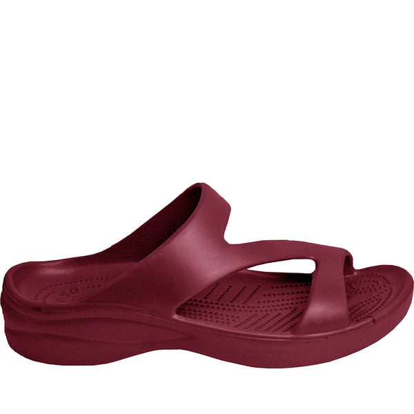 DAWGS Women's Z Sandals - Burgundy