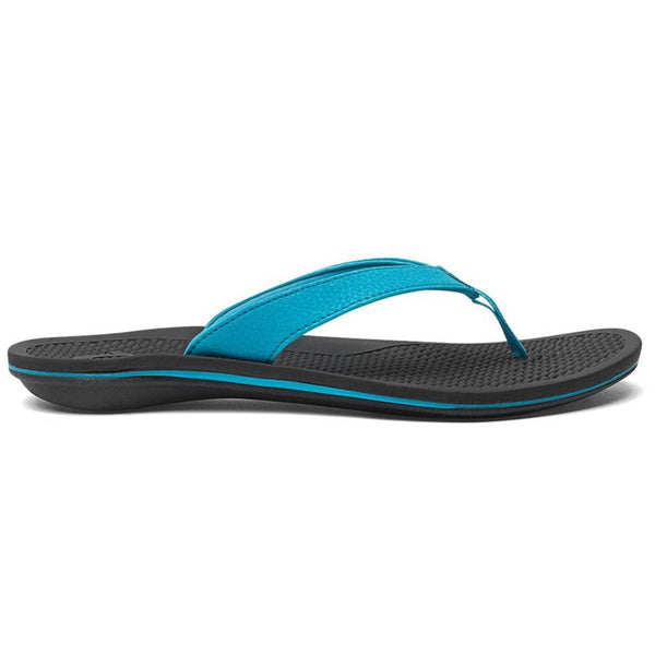 OLUKAI Women's ONO Coastal Blue/Black Sandal