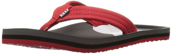 Reef Ahi Boys' Flip Flop, (Little Kid/Toddler/Big Kid)Red/Grey/Grey, 7/8 M US Toddler