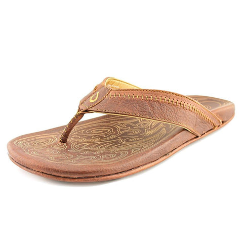 OluKai Hiapo Mens Sandals in Teak/Teak sz:12