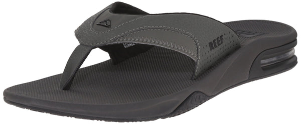 Reef Fanning Mens Sandals  Bottle Opener Flip Flops For Men,GREY/BLACK,9 M US