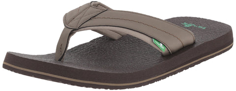 Sanuk Men's Beer Cozy 2 Flip-Flop Brindle 09 M US