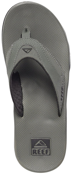 Reef Fanning Mens Sandals  Bottle Opener Flip Flops For Men,GREY/BLACK,8 M US