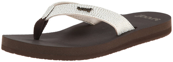 Reef Women's Star Sassy Sandal, Brown/White, 7 M US
