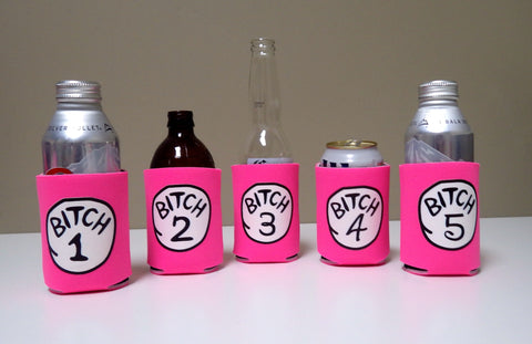Bitch Koozies - Hot Pink