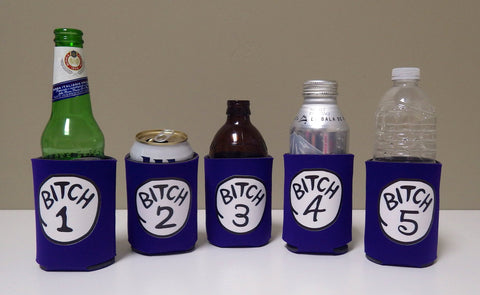 NEOPRENE CAN KOOZIES - 'Bitch""