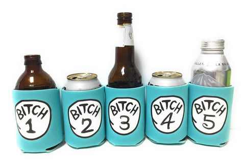 Bitch Koozies -Aqua