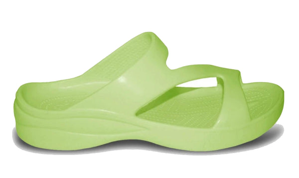 Dawgs Women's Original Solid Z-Sandals - Soft Lime