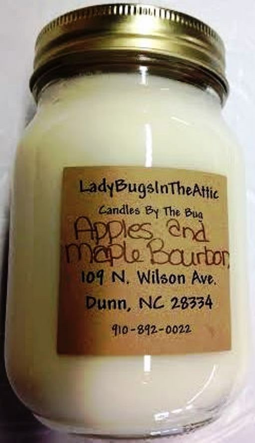 Apples And Maple Bourbon Soy Candle