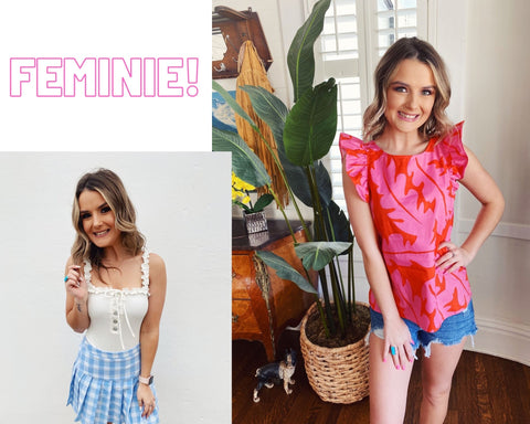 Spring Trends 2021. Blog Post Top 10 Spring Trends. Ruffles. Multitudes Boutique. Cutest Online Clothing Store.