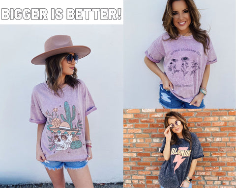 Spring Trends 2021. Blog Post Top 10 Spring Trends. Oversized T Shirts. Multitudes Boutique. Cutest Online Clothing Store.