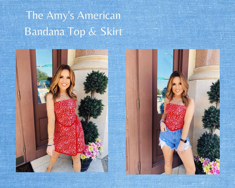 The Amy American Bandana Top is trendy, cute, and will keep you cool! Pair this Red Bandana Top with the matching skirt, or simply with your denim shorts! This Tie Back Crop Top features a red bandana print, a v-shaped hemline, spaghetti straps, and a tie back closure. Cutest Online Boutique. Multitudes Boutique.