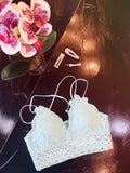 The Mint Scallop Detail bralette is the perfect way to add a little feminine flair to any outfit! We love the battenburg lace detailing, the adjustable straps, and smocked back. This one is not only pretty, but it's super comfy as well. Best Online Boutique. Multitudes Boutique. Free Shipping on Orders.
