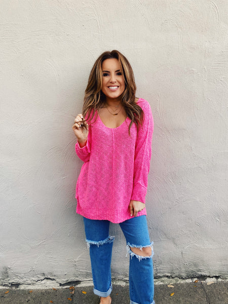 Perfect Pink Beach Lover Sweater