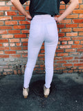 The Whitney White Frayed Skinnies are the perfect white jean! They aren't sheer and have the perfect amount of stretch. 98% Cotton, 2% Spandex Machine Wash Cold Inside Out to Retain Color, Only Non-chlorine Bleach When Needed, Tumble Dry Low, For Better Care Lay Flat To Dry. Multitudes Boutique.