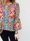 This Leopard Print Embroidered Top is trendy and timeless! Wear it with your skinny jeans and favorite booties for a classic fall look. Leopard Print Embroidered Top by Multitudes - This top has three quarter bell sleeves, a slight slit at the neck, and has a tunic length. Multitudes Boutique. Cutest Online Boutique.