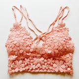 Coral Daisy Darling Lace Bralette