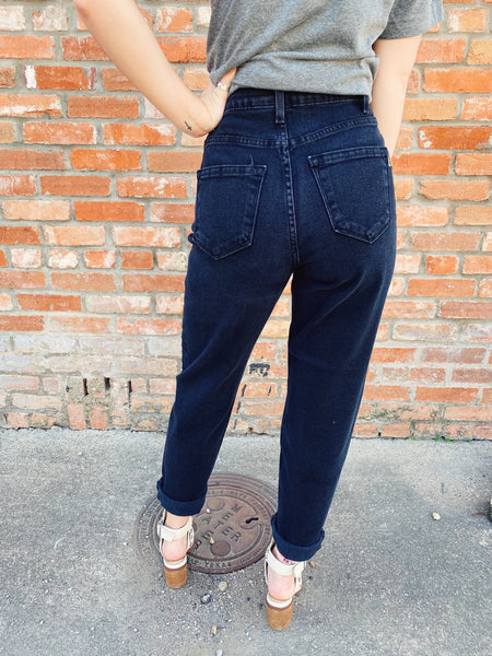 The Black Roper Mom Jeans