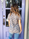 We love Leopard T-shirts, and this Easy Leopard Basic Tee is unique! How great is the muted leopard print to transition into fall? Picture it with your black denim jeans, a blue jean jacket, and booties! Girl, you will never want to take that fall transition outfit off! Multitudes Boutique. Cutest Online Boutique.