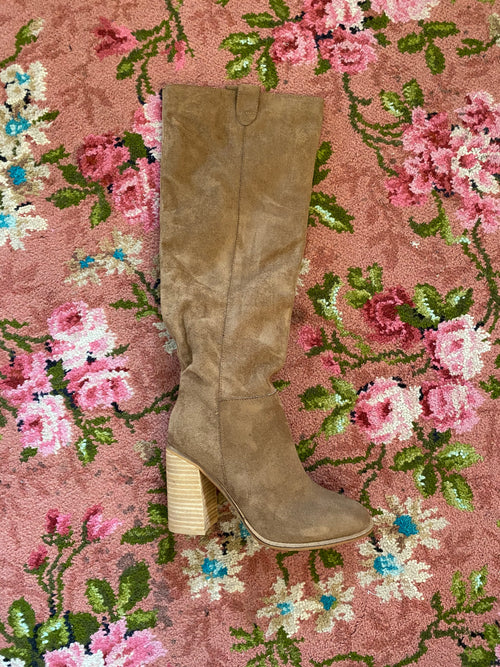 Camel Saint Knee High Boots