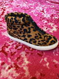 Hidden Wedge Sneakers are trending and we love the look and feel of these Coby Leopard Print Sneaker Wedges! That classic leopard print is to die for and we love the front zipper. These will look great with all your denim, athleisure, and loungewear joggers! Multitudes Boutique. Cutest Online Boutique.
