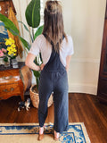 Fashion Overalls are trending and the Z Supply Clothing Cinched Waist Overalls in Black are the perfect example! These Knit Overalls are a fashionalble Overall Jumpsuit with porkchop pockets, overall straps, a drawstring tie waist, and are capri length! Multitudes Boutique. Cutest Online Clothing Store.