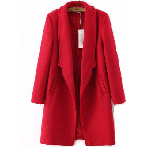 Autumn Woolen Long Slim Women Overcoat Jacket Featured Blog