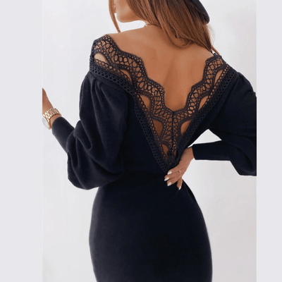 Backless Lace Dress Deep V Neck Bodycon Dress Dresses Daisy Dress For Less